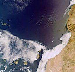 Die Kanarischen Inseln, aufgenommen vom Satelliten Envisat (ESA)