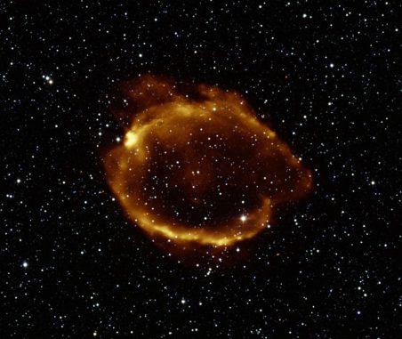 Supernova-Überrest G299.2-2.9 (X-ray: NASA / CXC / U.Texas / S.Park et al, ROSAT; Infrared: 2MASS / Umass / IPAC-Caltech / NASA / NSF)