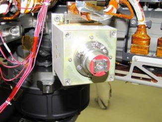 Curiositys Alpha Particle X-Ray Spectrometer (APXS). (NASA/JPL-Caltech)