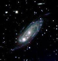 Eine der beobachteten Galaxien. (Image by Zagursky & McGaugh)