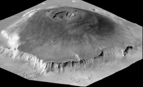 3D-Modell von Olympus Mons (Courtesy of NASA)