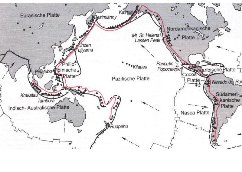 Der Pazifische Feuerring (Courtesy of USGS)