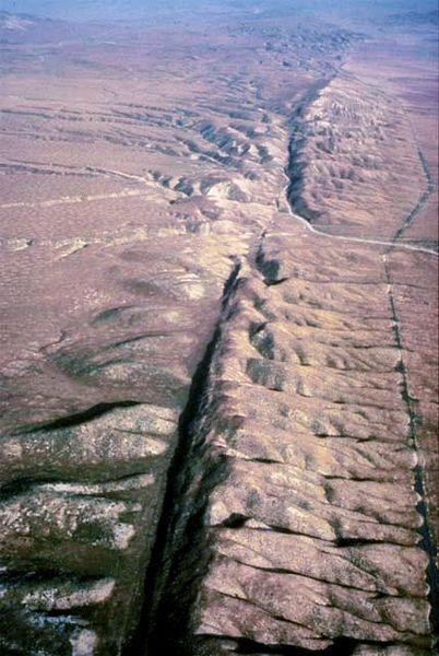 Ein Teil der San-Andreas-Verwerfung (Courtesy of US NOAA)