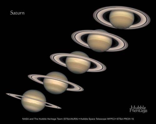 Verschiedene Blickwinkel auf das Ringsystem (Courtesy of NASA / Hubble Heritage Team (STScI/AURA))