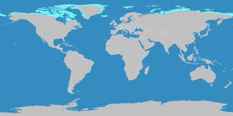 Gebiete mit subpolarem und polarem Klima (Bild: ©2007 by M.C. Peel / B.L. Finlayson / T.A. McMahon)