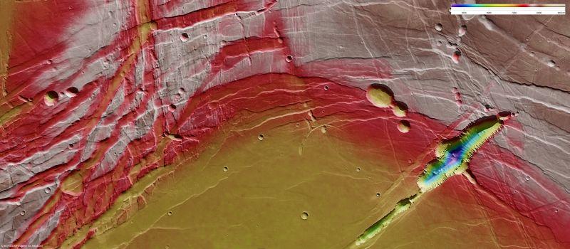 Topologische Karte von Phoenicis Lakus (Courtesy of ESA / DLR / FU Berlin (G.Neukum))
