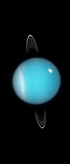 Uranus (Courtesy of NASA / ESA / M. Showalter (SETI Institute))