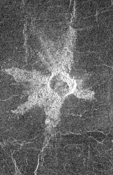 Unbenannter Krater (Courtesy of NASA / JPL)