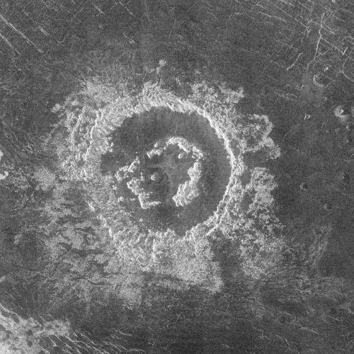 Krater Barton (Courtesy of NASA / JPL)