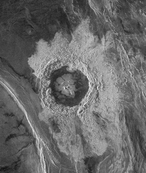 Krater Dickinson (Courtesy of NASA / JPL)