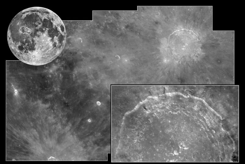 Mondkrater Copernicus (Courtesy of NASA / JPL / STScI)