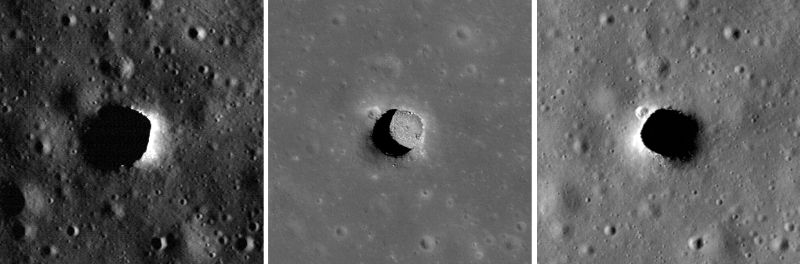 """Marius Hills Pit"" (Courtesy of NASA / GSFC / Arizona State University)"