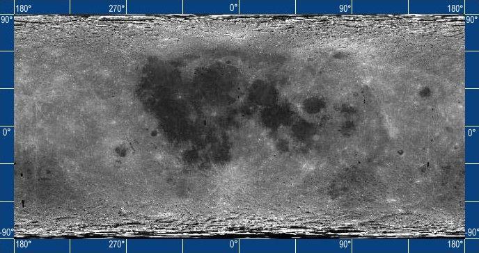 Mondkarte (Courtesy of USGS)