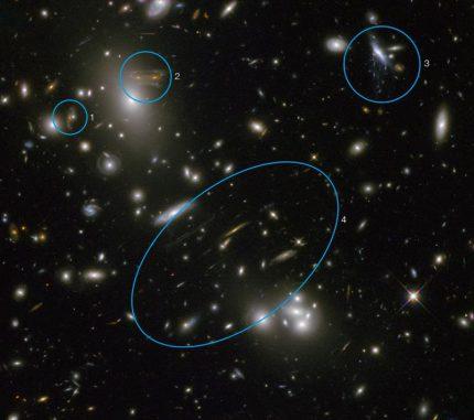 Der Galaxienhaufen Abell 68, aufgenommen vom Weltraumteleskop Hubble. (NASA & ESA. Acknowledgement: N. Rose)