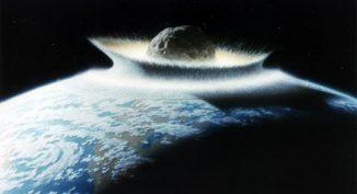 Künstlerische Darstellung eines Asteroideneinschlags auf der Erde. (Don Davis / NASA)