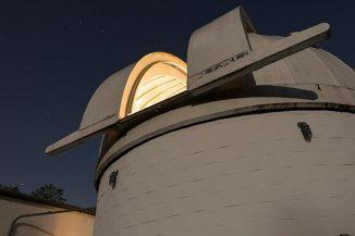 Das Befehlszentrum für das Whole Earth Telescope am Mount Cuba Astronomical Observatory in Greenville, Delaware. (Evan Krape / University of Delaware)