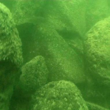 Die Struktur besteht aus vulkanischen Basaltsteinen, wie dieses Unterwasser-Bild verdeutlicht. (Shmulik Marco)
