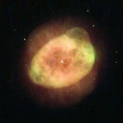 Der planetarische Nebel IC 289 im Sternbild Cassiopeia, aufgenommen vom Weltraumteleskop Hubble. (ESA / Hubble & NASA, Acknowledgement: Serge Meunier)
