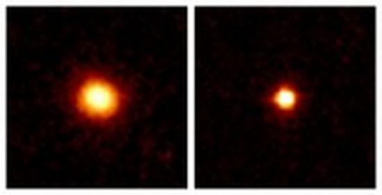 Ein Beispiel für den neu entdeckten Sternhaufen-Typ (links) und ein Beispiel für einen schon bekannten Kugelsternhaufen (rechts). (NASA / Hubble)