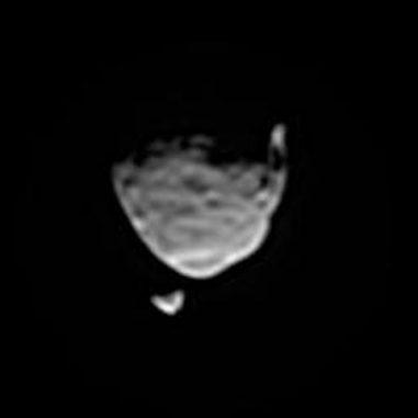 Die Marsmonde Phobos und Deimos, aufgenommen vom Marsrover Curiosity. (NASA / JPL-Caltech / Malin Space Science Systems / Texas A&M Univ.)