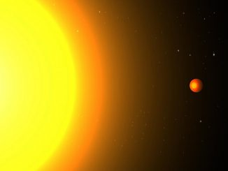 Künstlerische Darstellung des Exoplaneten Kepler 78b und seines Zentralsterns. (Image: Cristina Sanchis Ojeda)