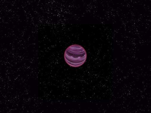 Illustration des frei vagabundierenden Planeten PSO J318.5-22. Das Objekt umkreist keinen Stern, sondern fliegt allein durch den Raum. (MPIA / V. Ch. Quetz)