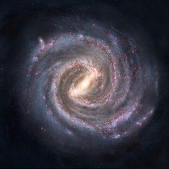 Künstlerische Darstellung der Milchstraßen-Galaxie. (Image: Nick Reisinger)