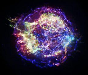Der berühmte Supernova-Überrest Cassiopeia A (kurz Cas A), basierend auf speziell verarbeiteten Daten des Chandra X-ray Observatory. (NASA / CXC / SAO)