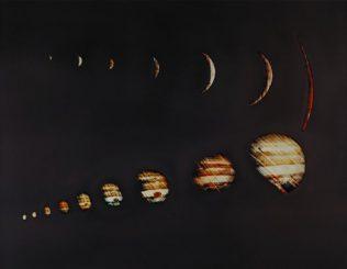 Diese Bilderserie machte die Raumsonde Pioneer 10 im Rahmen ihres Vorbeifluges an dem Planeten Jupiter im November / Dezember 1973. (NASA)