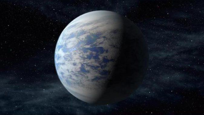 Diese künstlerische Darstellung zeigt Kepler-69c, eine Supererde in der habitablen Zone eines sonnenähnlichen Sterns, etwa 2.700 Lichtjahre von der Erde entfernt im Sternbild Cygnus (Schwan). (NASA Ames / JPL-Caltech)