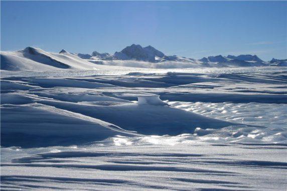 Eislandschaft in Antarktika. (Image courtesy of Newcastle University)