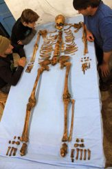 Das Skelett des bislang unbekannten Pharaos Weseribre Senebkay. (Image courtesy of University of Pennsylvania, Photo: Jennifer Wegner, Penn Museum)