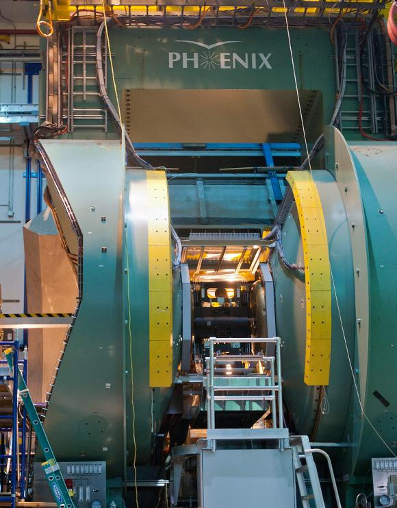 Das Herz des PHENIX-Detektors. (Courtesy Brookhaven National Laboratory)