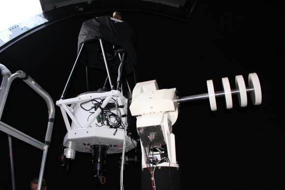 Das Hypergraph-Teleskop mit 50 Zentimetern Spiegeldurchmesser. (astropage.eu / Sternwarte Hagen)