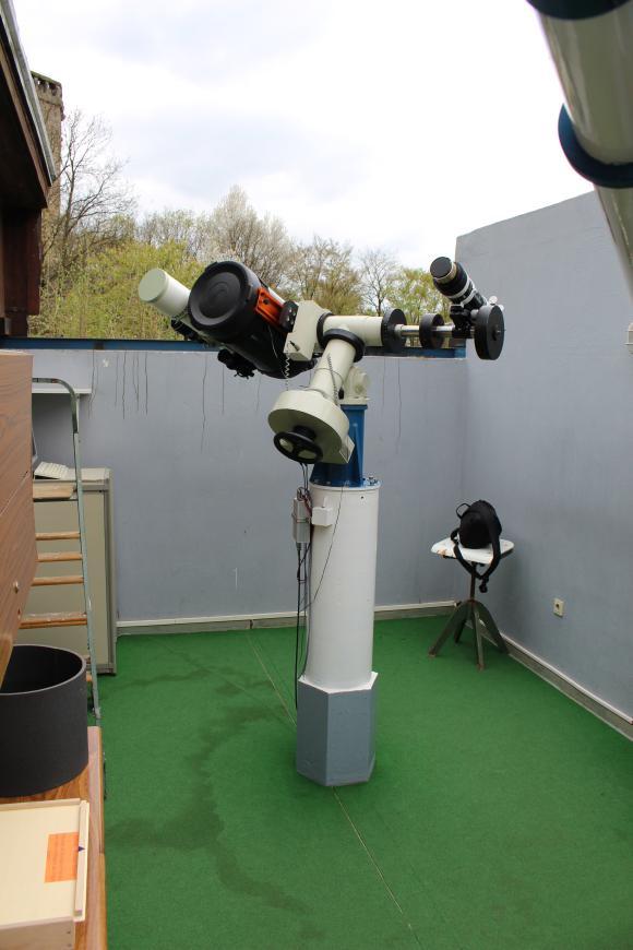 Die verwendeten Teleskope zur Sonnenbeobachtung. (astropage.eu / Sternwarte Hagen)