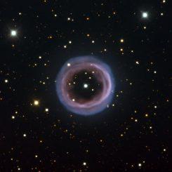 Der planetarische Nebel Shapley 1, aufgenommen vom New Technology Telescope der Europäischen Südsternwarte (ESO) am La-Silla-Observatorium in Chile. (ESO)