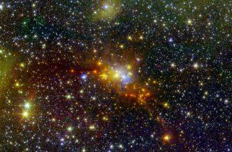 Der Serpens Cloud Core, eine Sternentstehungsregion, enthält einige der jüngsten Sternansammlungen in unserer Milchstraße. (NASA / JPL-Caltech / 2MASS)