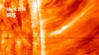 Dieser riesige Vorhang aus solarer Materie war der erste koronale Massenauswurf für den Interface Region Imaging Spectrograph (IRIS). (NASA / LMSAL / IRIS / SDO / Goddard)