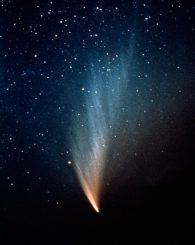 Der Komet West am 10. August 1975. (P. Stättmayer / ESO)