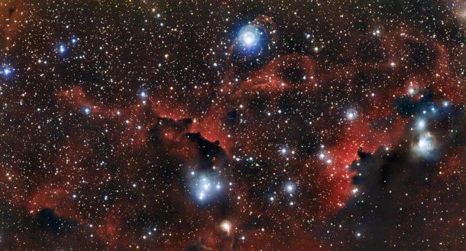 Diese Aufnahme der Gas- und Staubwolke Sharpless 2-296 wurde mit dem Wide Field Imager am 2,2-Meter-Teleskop des La Silla Observatoriums in Chile gemacht. (ESO)