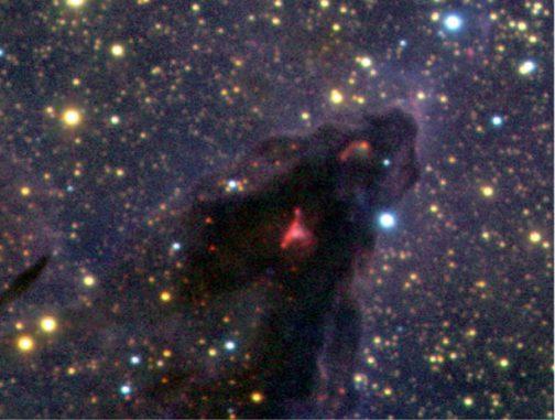 Diese Aufnahme wurde mit dem Very Large Telescope (VLT) der Europäischen Südsternwarte in Chile gemacht. Sie zeigt einen kleinen Ausschnitt des Adlernebels, einer Sternentstehungsregion im Sternbild Schlange. (ESO / M.McCaughrean & M.Andersen (AIP))