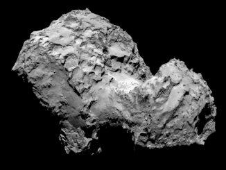 Der Komet 67P/Churyumov-Gerasimenko, aufgenommen von Rosettas OSIRIS-Instrument am 3. August 2014 aus einer Entfernung von 285 Kilometern. (ESA / Rosetta / MPS for OSIRIS Team MPS / UPD / LAM / IAA / SSO / INTA / UPM)