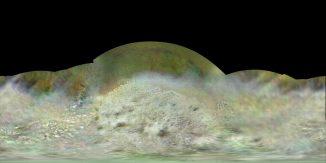Die bislang beste globale Karte des Neptunmondes Triton, basierend auf Daten, die von der Raumsonde Voyager 2 im Sommer 1989 gesammelt wurden. (NASA / JPL-Caltech / Lunar & Planetary Institute)