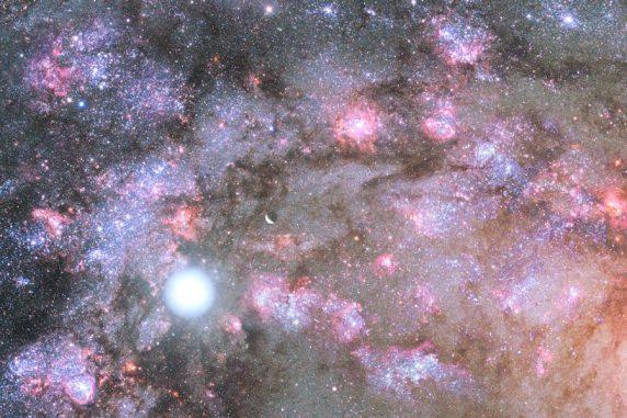 Künstlerische Darstellung eines Starburst tief im Innern eines Kerns einer jungen, wachsenden, elliptischen Galaxie. (NASA / Space Telescope Science Institute)