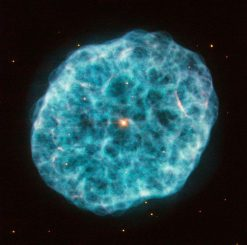 Hubble-Aufnahme des planetarischen Nebels NGC 1501 im Sternbild Giraffe. (ESA / Hubble & NASA; Acknowledgement: Marc Canale)