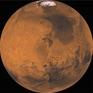 Mosaikbild des Mars, aufgenommen von der Viking-Mission. (NASA / JPL)