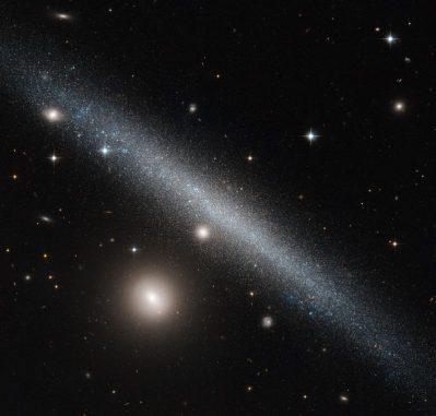 UGC 1281 ist eine Zwerggalaxie im Sternbild Dreieck, hier aufgenommen vom Weltraumteleskop Hubble. (ESA / Hubble & NASA; Acknowledgement: Luca Limatola)