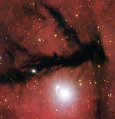 Diese Aufnahme des Very Large Telescope (VLT) zeigt eine Dunkelwolke in der Sternentstehungsregion Gum 15. (ESO)