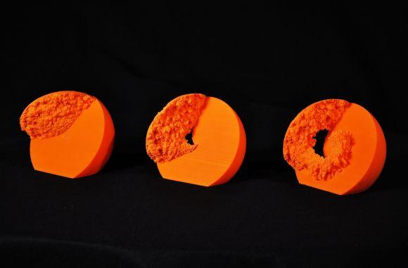 3D-Modelle der Simulation, erstellt mit einem 3D-Drucker. (NASA / Goddard Space Flight Center)