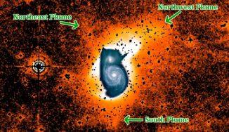 Neu entdeckte Strukturen der bekannten Whirlpool-Galaxie, die seit 170 Jahr gezeichnet und fotografiert wird. (Aaron Watkins)